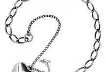 Silver charms bracelets