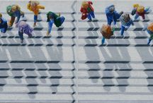 CODA Gallery: Jim Zwadlo / Zwadlo's work focuses on the urban pedestrian from the aerial point of view. He has said that this focus presents complex abstract ideas by using simple, realistic imagery in a familiar, recognizable context.