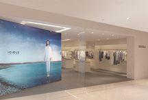 ICICLE PEKIN WANG FU JUING / aménagement d'une boutique icicle dans le centre commercial wang fu jing à pékin