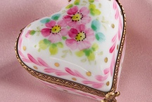Trinket Boxes~*~ / I have loved little boxes since I was a child.  They have lovely details and add a sweet charm to your decor.  One of mine holds my son's baby teeth and one holds a tiny dried rose saved from the last flowers my mom gave me.