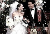 """A Scottish Wedding  / Corston Couture - The Scotts have """"invaded"""" almost all countries in this last century, and certainly in Australia are very proud of their heritage, ( as they should be!..I am 1/2 Scottish myself, so this board is one of my favorites, If I HAD to choose one).....Tartan is so versatile.....it can be used in so many ways, enjoy these inspirational ideas."""