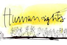 Amnesty International / Watercolor  illustration for Amnesty International ,a marathon for human rights