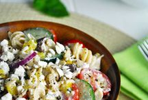 Lunch / Greek pasta salad / by Meral Henton