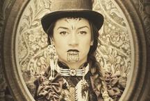 vintage maori portrait photography