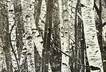 TREES RELIEF PRINT