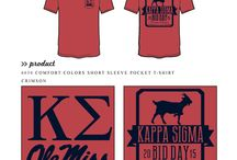 Bid Day / Greek sorority and fraternity custom shirt designs featuring bid day themes. For more information on screen printing or to get a proof for your next shirt order, visit www.jcgapparel.com