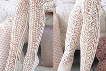 crochet-knit tights / вязаные колготы-чулки