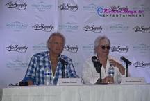 CONFERENCIA DE PRENSA AIR SUPPLY / Con la presencia de los miembros de Air Supply Graham Russell y Russell Hitchcok, se realizó el día de hoy la conferencia de prensa en el Hotel Moon Palace - Cancún.