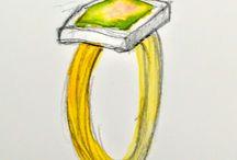 sieraden schetsen / Tekeningen en schetsen voor sieraden.