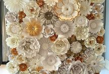 Paper flower backdrop inspirations