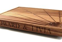 Carving and Chopping Boards / Oak Carving boards and Chopping boards, personalised with text, images, dates, symbols..or a combination of all four. You can have your own handwritten message engraved too. Prices from £42.99 inc UK shipping. Personalised end grain carving board from buywoodengifts.co.uk. Working drainage channels and hemispherical juices bowl for hygienic cleaning. Excellent wedding gift. https://buywoodengifts.co.uk/product/chopping-board-oak-personalised/