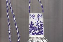 Beading - amulet bags/large necklaces/banners / Beaded by other people