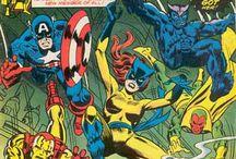 Comic covers super heros