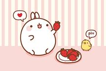 Molang / Molang is a lovely bunny which loves to eat strawberries