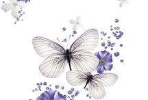 decoupage butterflies