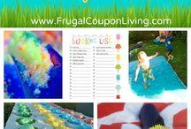 Sommerferie / DIY ideer til sjove sommer aktiviteter