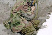 soldier watercolor