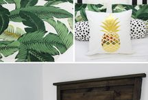 Tropical interior styling
