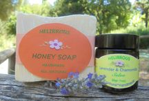 Set Beeswax Salves and Handmade Soaps