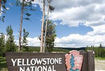 Yellowstone National Park , Wyoming / Yellowstone is first  National Park around the ABD and world..