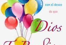 feliz cumpleaños en Dios