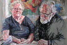 pastel portraits helge jensen / fascinují mě jeho portréty...