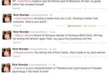 Rick Riordan Tweets / Rick's Tweets are so funny they deserve a board all to themselves.