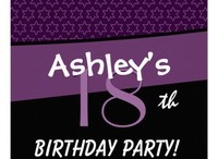Birthday Parties - 18th Birthday Party!  / See more at www.zazzle.com/jaclinart*/ and at www.zazzle.com/jaclinart_birthday* / by JaclinArt