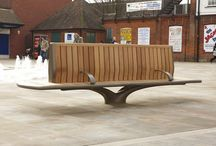 Leys Square Project (Letchworth Garden City) / LDA Design appointed Factory Furniture to design and make some eye-catching curved timber seating.