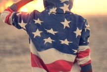 American flag mania