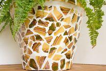 Blumentöpfe Mosaik