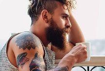 man curly hair