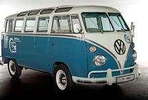 Old Volkswagen vans