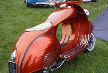 Art Deco Scooters and assorted 2 wheel vehicles
