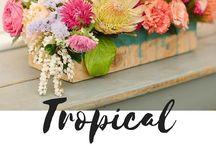 Mariage thème tropical