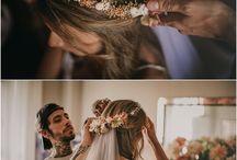 Corona flores novia
