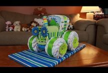 tractor con pañales
