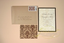 Damask Wedding Invitations / Wedding invitations with various damask prints / by Gourmet Invitations