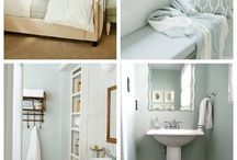Bathroom design / Decorating ideas and inspiration for your bathroom. Create a beautiful and relaxing space with these decorating and organizing tips.