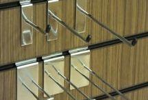 Slatwall Hooks / Slatwall shelves / retail display / shop display / We stock a wide range of quality Slatwall Panel accessories:Single pin hooks, Euro hooks, Waterfall Arms, Notched Arms, D Rails, Hat Holders, Shelf Brackets, Metal Shelves, Glass Shelves and much more