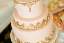 Pink & Gold cakes
