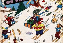 Skiing -- Comics / by GCD Grand Comics Database