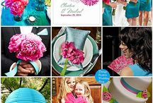 Fuchsia & Teal Wedding / by The American Wedding
