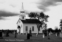 Churches / I love white country churches. I am collecting pictures to find the right church for my mother ,an artist, to paint for me. / by Laurie Robbins