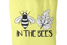 Bee inspired gifts / Save the Bees! Do you love bees? Show your support for a bee friendly environment and save our ecosystem by saving the bees by buying one of our save the bee teeshirts, totes and mugs.