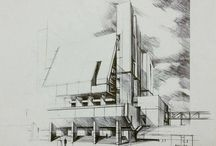 handmade architecture drawing