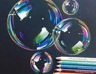 Disegni con matite colorate
