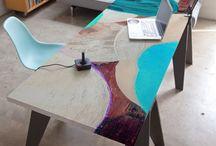 столы разрисованные
