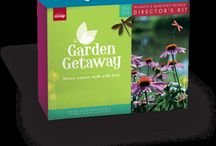 Garden Getaway Women's Ministry Retreat Kit / This is the 2014/2015 Women's Ministry Retreat Kit from Group Publishing. I designed all of the materials and marketing. You're women's group will LOVE it! Any time of year, help your women see how God Walks with them through ALL of the seasons of their lives!