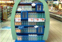 Ideas - Supermercados / elementos publicitarios, aéreos, cabeceras y todo lo relacionado con elementos decorativos o de refuerzo de marca